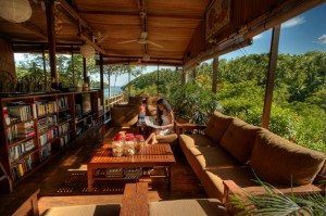 Restaurant and open lounge at Divers Lodge Lembeh