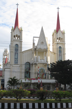 One of the many churches in Bitung