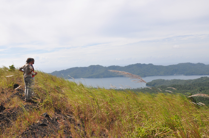View from the top of Batu Angus volcano
