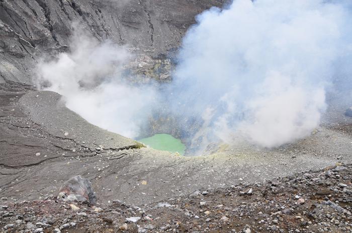 Crater of Lokon Volcano
