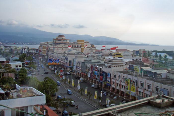 Manado shopping area