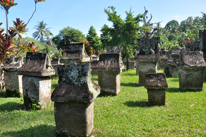 Waruga ancient stone grave of Minahasan ancestors