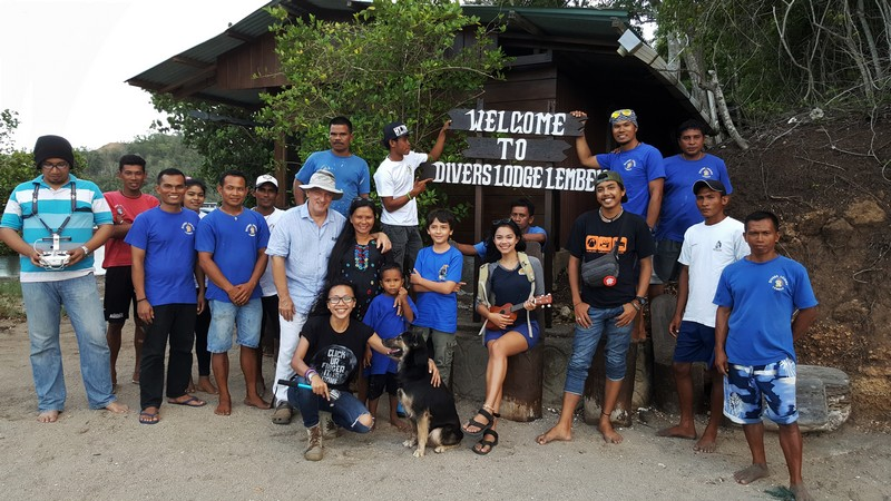 The Team of Divers Lodge Lembeh
