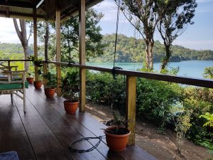 View from Bungalow Soa Soa at Divers Lodge Lembeh